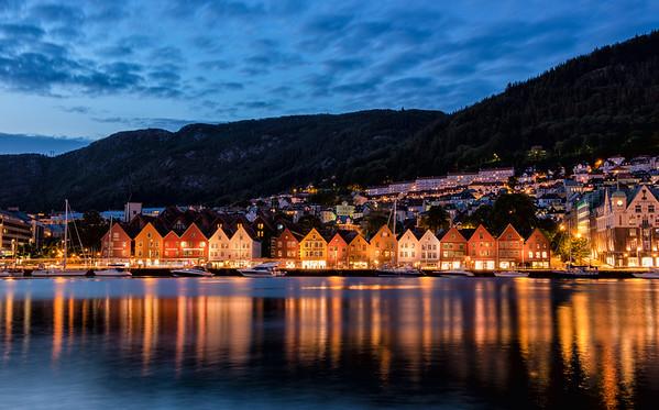Night Falls on Bryggen
